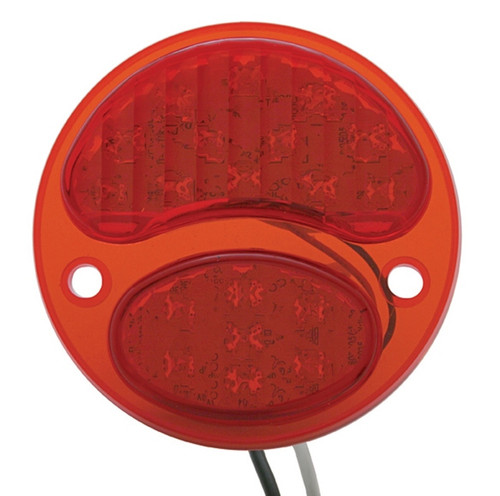 1928-31 Ford LED Tail Lens R/H (RED/RED 6v positive ground)