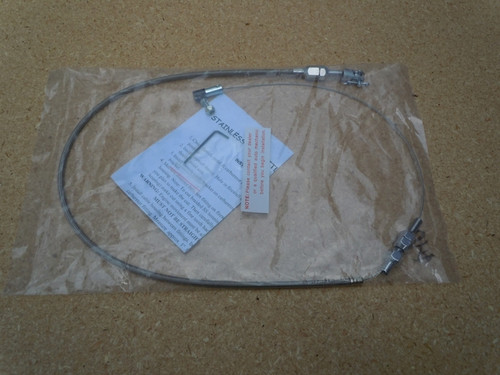 """BRAIDED STAINLESS THROTTLE CABLE 24"""""""