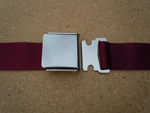 AIRCRAFT STYLE SEAT BELT RED WINE