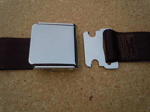 AIRCRAFT STYLE SEAT BELT CHOCOLATE BROWN