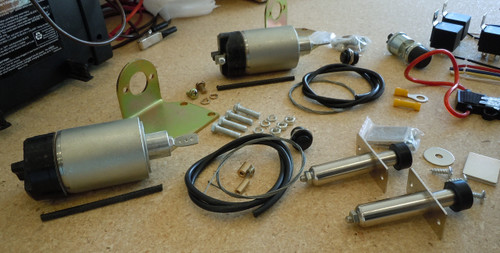 Close Up of 50lb Solenoids, Poppers and other Hardware