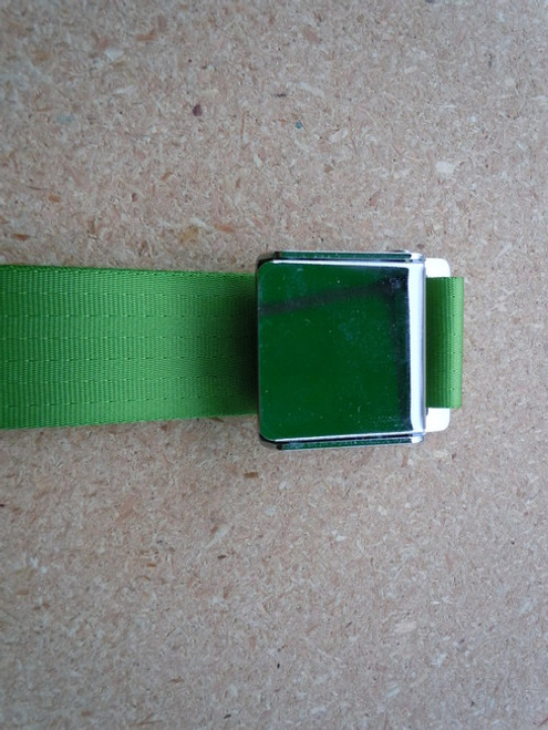 AIRCRAFT STYLE SEAT BELT LIME GREEN