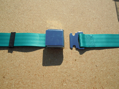 AIRCRAFT STYLE SEAT BELT TURQUOISE