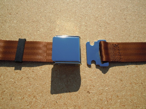 AIRCRAFT STYLE SEAT BELT COPPER