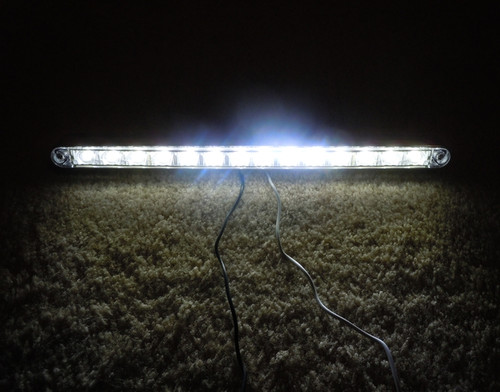 "14 LED 12"" WHITE STRIP LIGHT W/BEZEL"