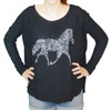 Floral Horse Women's Thermal T-Shirt