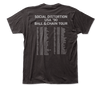 Social Distortion 2-sided Ball & Chain Tour T-Shirt- Back