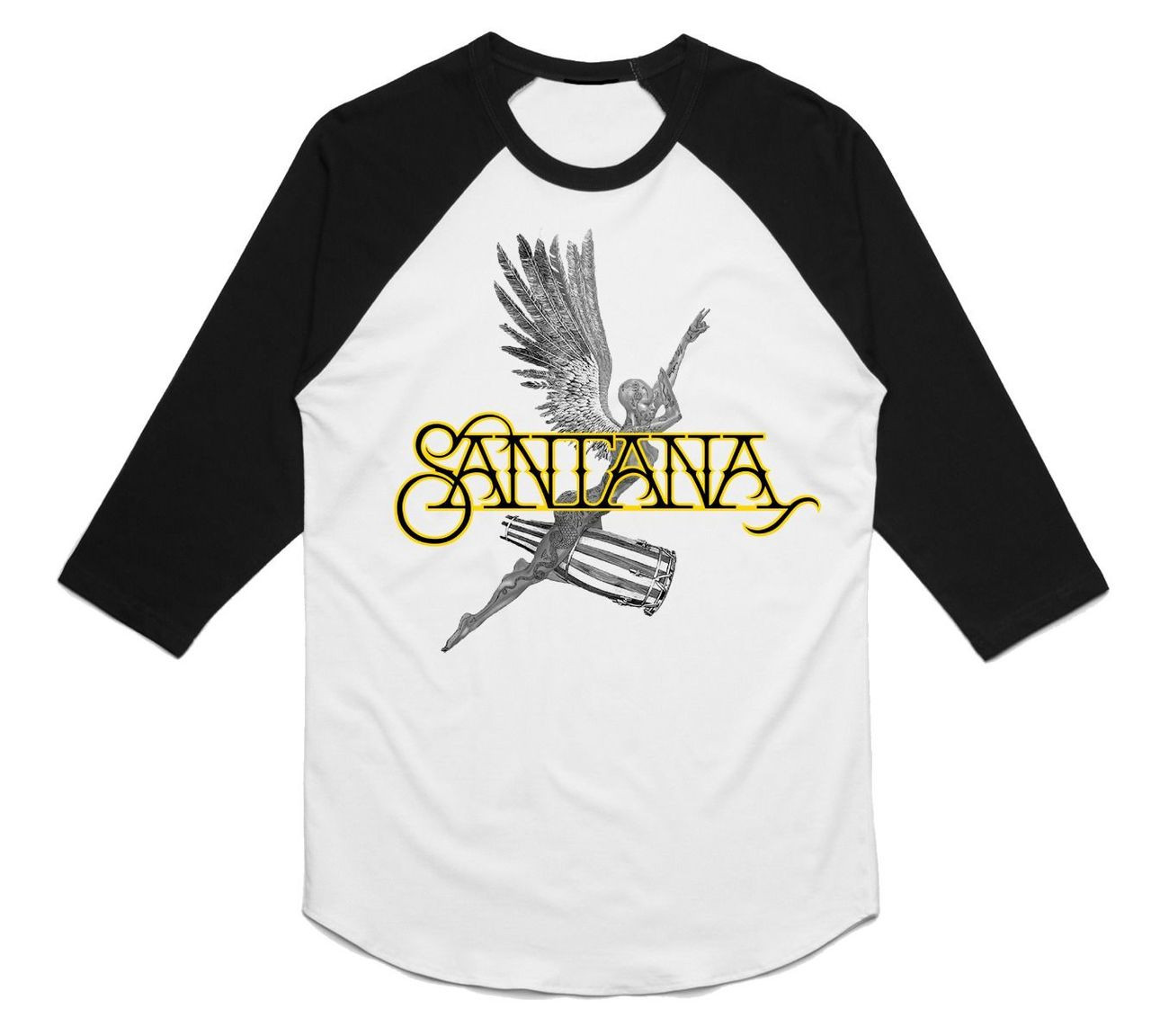 0a32ba256 Santana Angel Raglan T-shirt | More vintage-styled Blues and Rock from  OldSchoolTees.com
