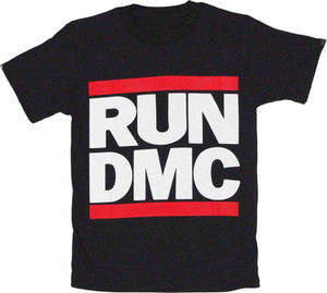 f1b1fd93b33 Run DMC Logo Black T-Shirt