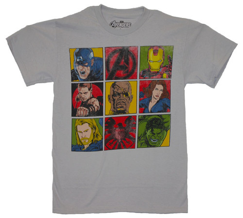 Avengers in Squares T-Shirt