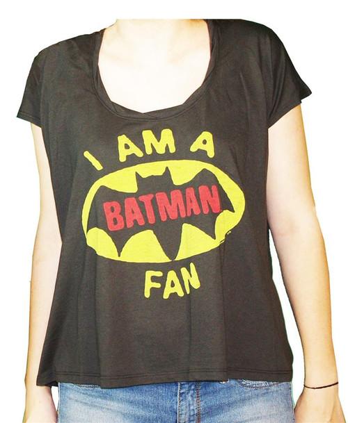Women's I Am a Batman Fan T-Shirt by Junk Food