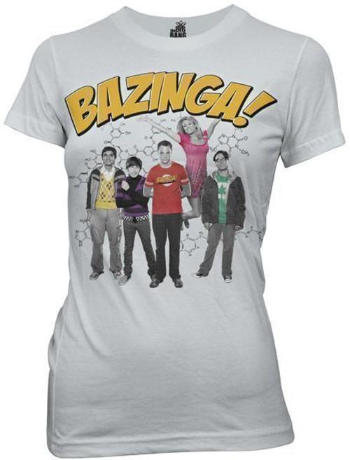 Juniors Big Bang Theory Bazinga w/ Cast T-Shirt