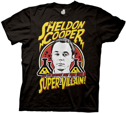 Big Bang Theory Sheldon Cooper Villain T-Shirt