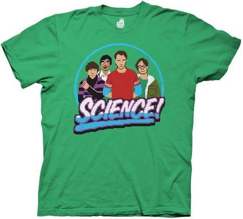 Big Bang Theory Pixelated Science T-Shirt