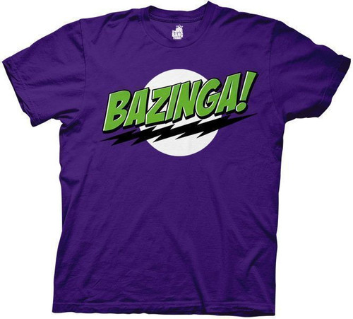 Big Bang Theory Purple Bazinga T-Shirt