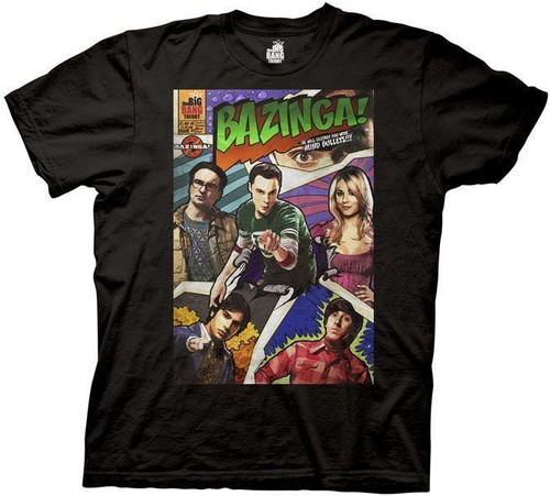 Big Bang Theory Bazinga Comic Book Cover t-shirt