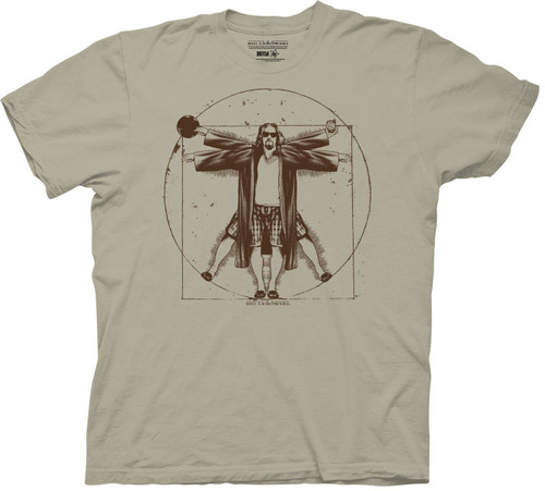 Big Lebowski Vitruvian Man T-Shirt
