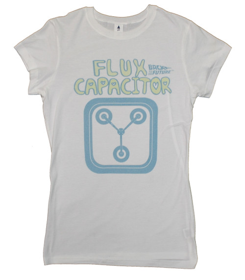 Back to the Future Flux Capacitor Juniors T-Shirt