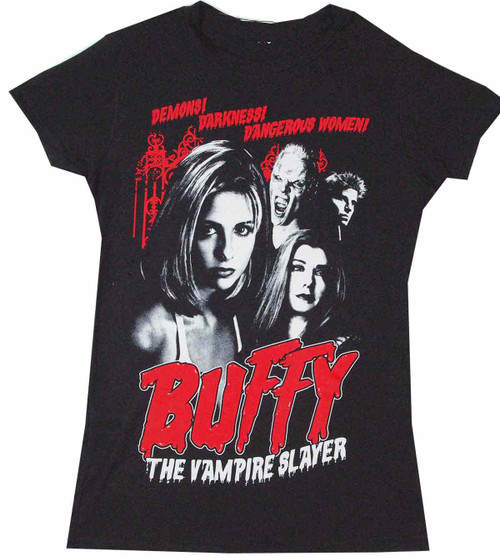 Buffy the Vampire Slayer Cult Poster Juniors T-Shirt