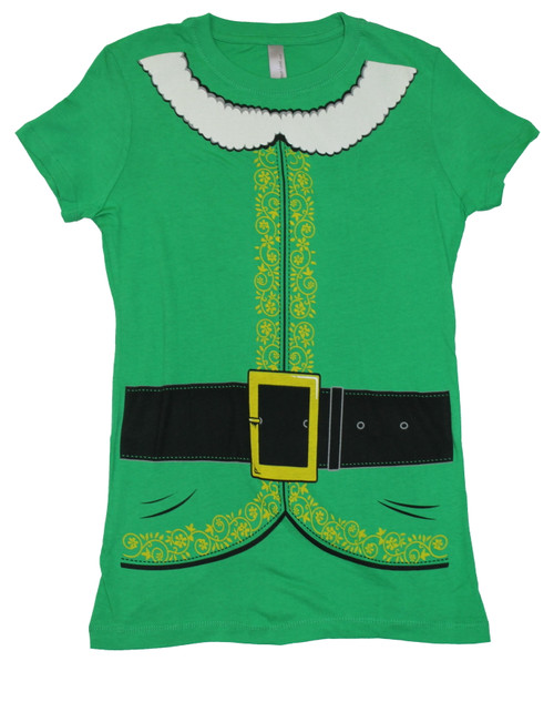 Elf Costume Juniors T-Shirt
