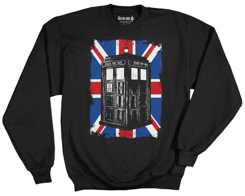 Doctor Who TARDIS on Union Jack Sweatshirt