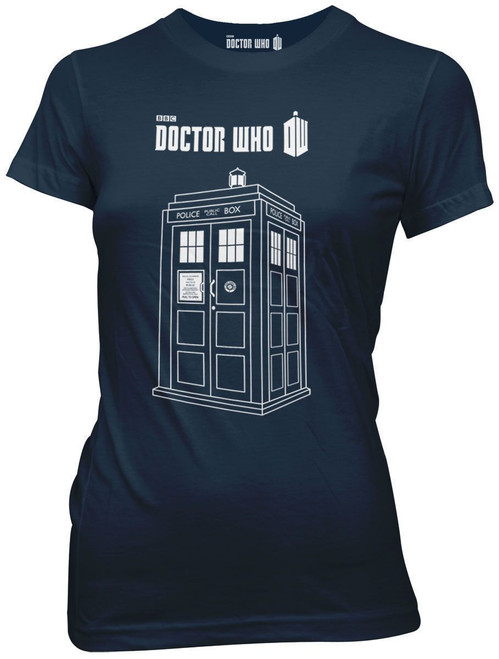 Doctor Who Linear Tardis Juniors T-Shirt