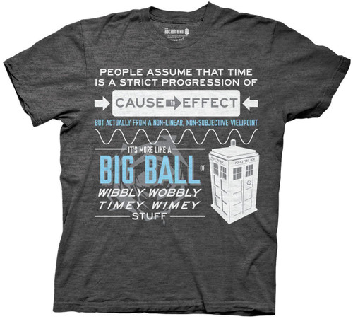 Doctor Who Wibbly Wobbly Timey Stuff Quote Tee T-Shirt