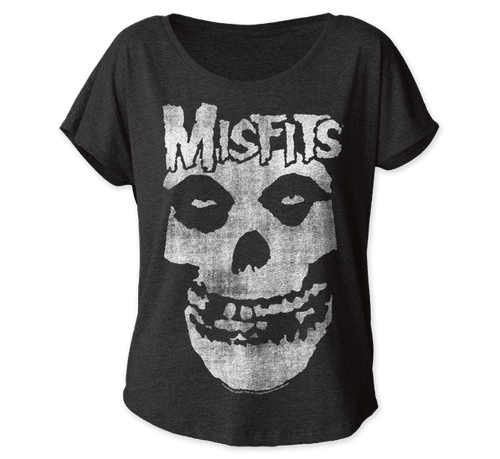 Women's Misfits Skull Dolman T-Shirt
