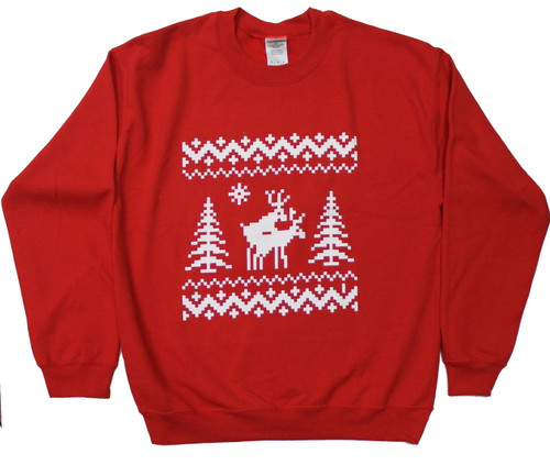 Deers Doing It Ugly Holiday Sweater Sweatshirt