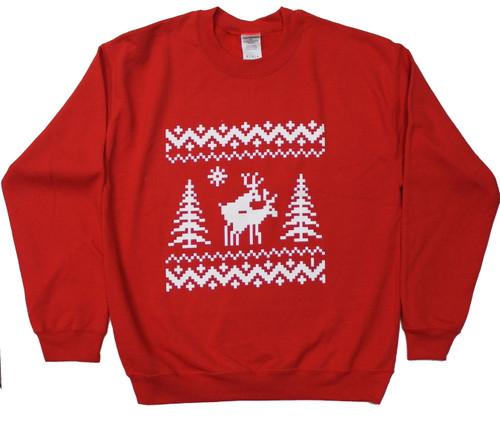 Deers Doing It Ugly Holiday Sweater Sweatshirt