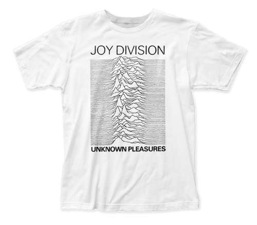 White Joy Division Unknown Pleasures T-Shirt