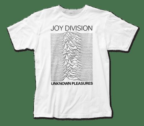 White Joy Division Unknown Pleasures T-Shirt
