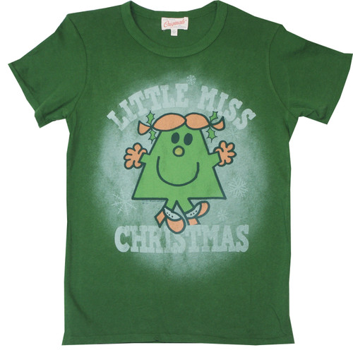 Little Miss Christmas Juniors T-Shirt