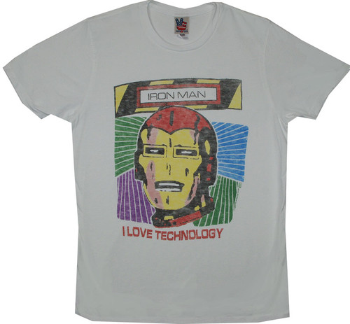 Iron Man I Love Technology T-Shirt
