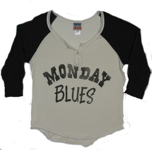 Women's Monday Blues Henley T-Shirt