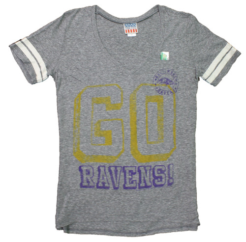 Women's NFL Baltimore Ravens Tailgate Tee T-Shirt by Junk Food