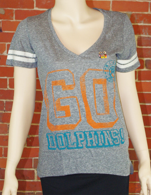 Women's NFL Miami Dolphins Tee T-Shirt by Junk Food