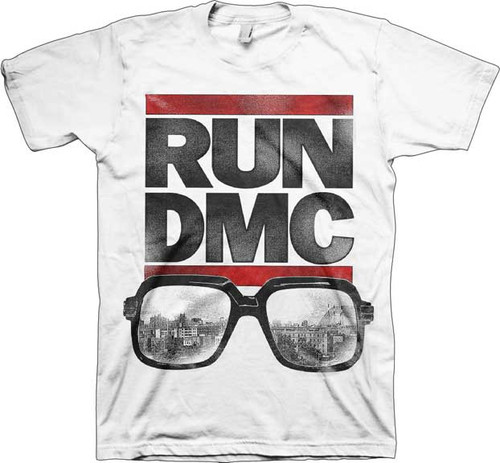 Run DMC Logo with Glasses T-Shirt