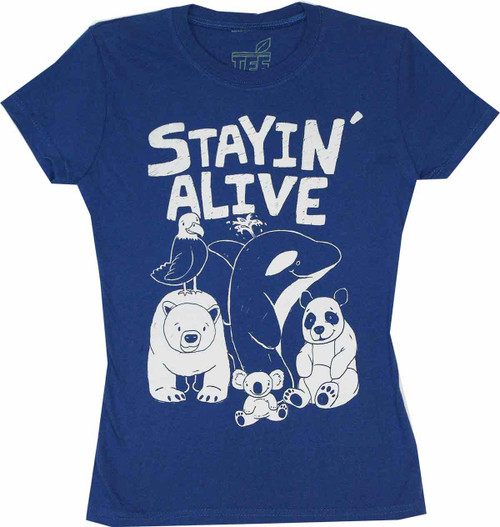 Stayin' Alive Juniors T-Shirt