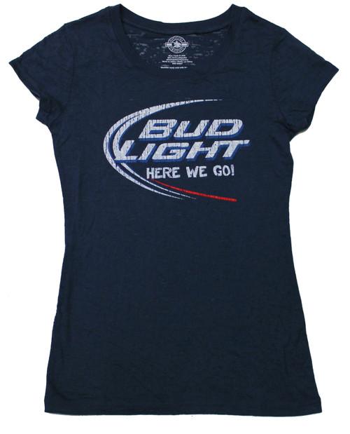 Bud Light Juniors Here We Go Burnout t-shirt