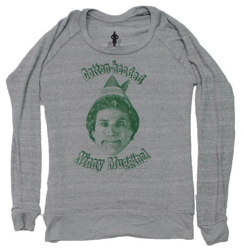 "Elf ""Cotton-headed Ninny Muggins!"" Women's Knit Top"