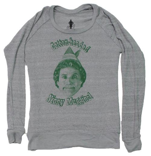 "Elf ""Cotton-headed Ninny Muggins!"" Women's Knit Top"