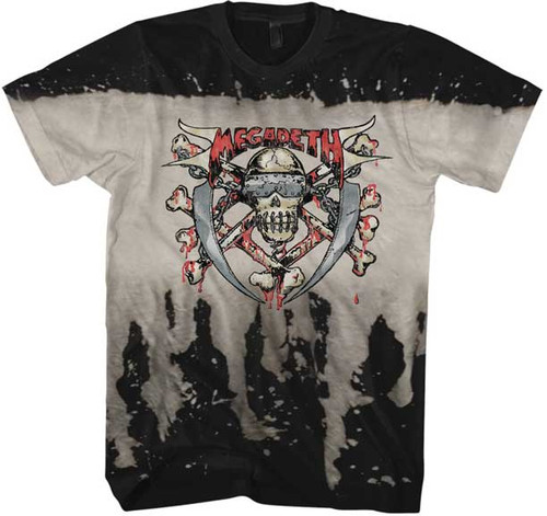 Megadeth Skull and Bleach T-Shirt