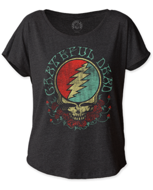 Grateful Dead Steal Your Face Women's Dolman T-Shirt