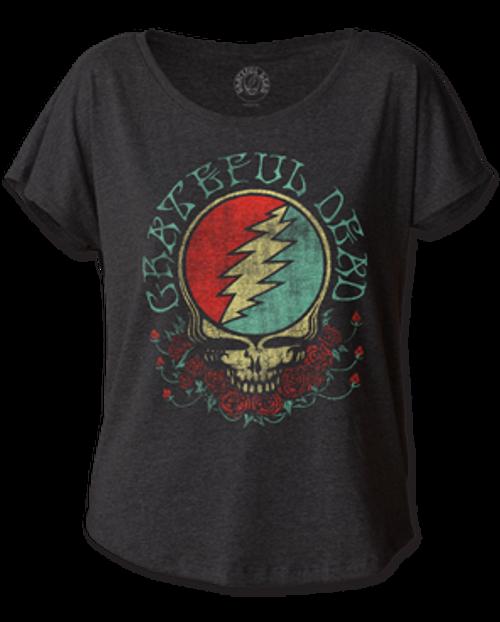 Grateful Dead Steal Your Face Women's Dolman T-Shirt