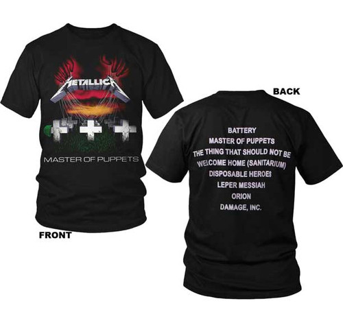 Metallica Master of Puppets 2-sided T-Shirt
