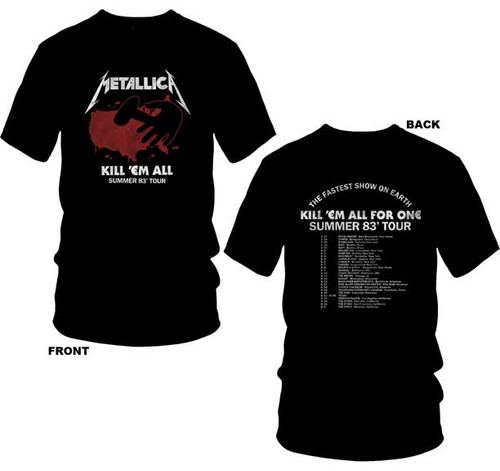 Metallica Kill 'em All Summer '83 Tour 2-Sided T-Shirt