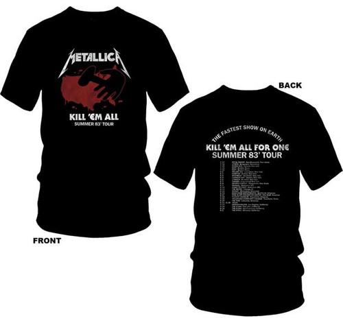 Metallica Kill 'em All Summer '83 Tour 2-Sided T-Shirt