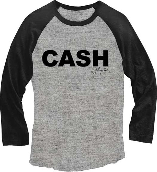 Johnny Cash Juniors Raglan T-Shirt
