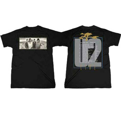 U2 Joshua Tree Europe 1987 2-sided Tour T-Shirt